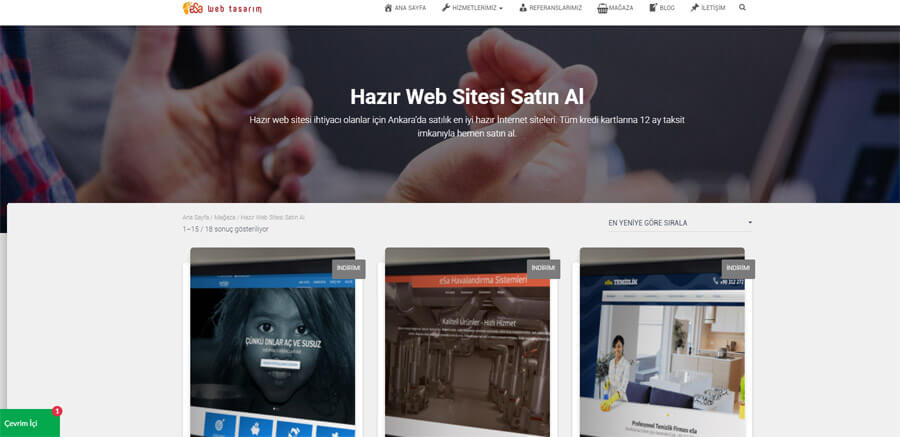 Hazır Web Sitesi Ankara